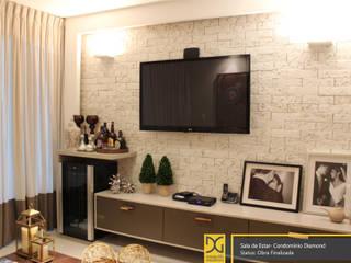 Projeto Residencial Salas de estar modernas por Estúdio DG Arquitetura Moderno
