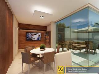 Wohnzimmer von Estúdio DG Arquitetura, Modern