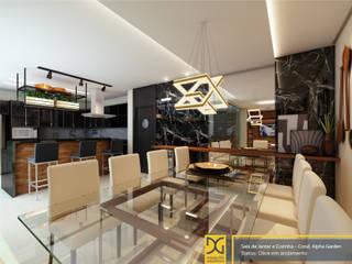 Projeto Residencial Salas de jantar modernas por Estúdio DG Arquitetura Moderno