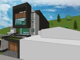 Fachada principal. Vista desde la calle: Casas de estilo minimalista por MARATEA Estudio