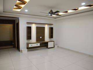Interior Design For Living Room:  Living room by Scale Inch Pvt. Ltd.
