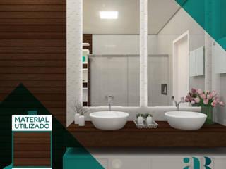 Residência L&C | Lençóis Paulista | Reforma no banheiro do casal Banheiros minimalistas por Arquiteta Alexandra Brusnardo Minimalista