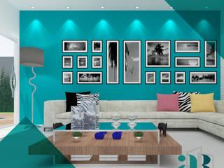 Residência V&A | Lençóis Paulista | Projeto de Interiores para Sala de estar Salas de estar ecléticas por Arquiteta Alexandra Brusnardo Eclético