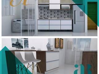 Apartamento em SP | Execução Marcenaria AntigArte Cozinhas ecléticas por Arquiteta Alexandra Brusnardo Eclético
