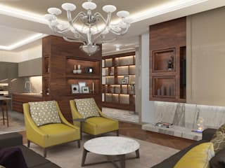 Living room by ART Studio Design & Construction