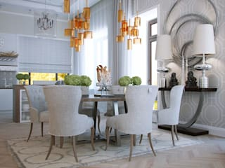 Dining room by ART Studio Design & Construction