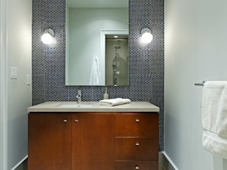 Douglas Design Studio Modern bathroom Wood Grey