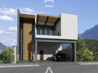 Las Lajas: Casas de estilo moderno por Álzar