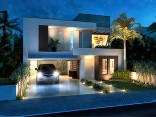 Casas de estilo  de daniel villela arquitetura, Minimalista
