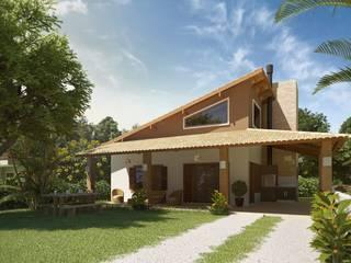 Nhà phong cách mộc mạc bởi daniel villela arquitetura Mộc mạc