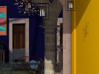 CASONA MONTORO Hoteles de estilo ecléctico de MARGARITA BALLESTEROS DISEÑO DE INTERIORES Ecléctico