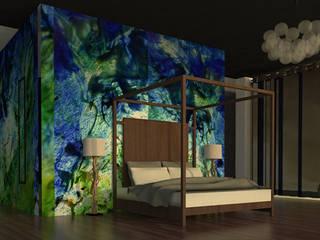 casa punta de mita Dormitorios minimalistas de MARGARITA BALLESTEROS DISEÑO DE INTERIORES Minimalista