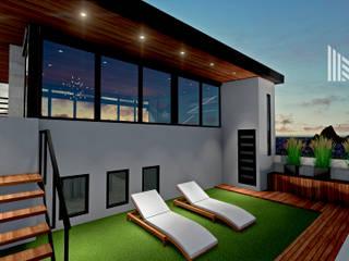 ROOF GARDEN Santa Lucía: Terrazas de estilo  por MOBAH Arquitectura