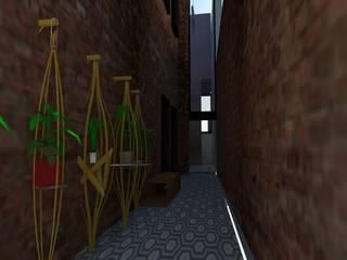 CASONA COLÓN / SIGLO XVIII Pasillos, vestíbulos y escaleras eclécticos de MARGARITA BALLESTEROS DISEÑO DE INTERIORES Ecléctico