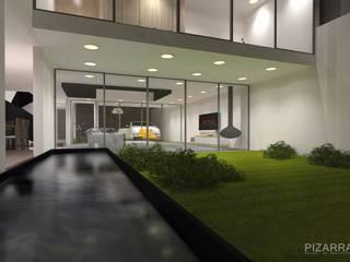 Proyecto: K3108. Status: on going : Albercas de estilo moderno por Pizarra Arquitectura
