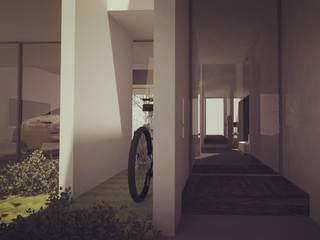 Proyecto: K3108. Status: on going : Pasillos y recibidores de estilo  por Pizarra Arquitectura