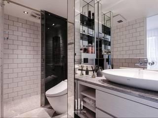 台北西湖-住宅案 現代浴室設計點子、靈感&圖片 根據 山巷室內設計 現代風
