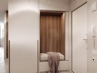 Z E T W I X Minimalist corridor, hallway & stairs