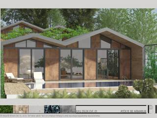 Atölye BE Mimarlık – Kaş Dilek Evi: kırsal tarz tarz Bahçe