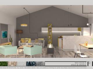 Atölye BE Mimarlık – Kaş Dilek Evi:  tarz Oturma Odası