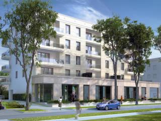 Casas modernas: Ideas, imágenes y decoración de Biuro Projektów MTM Styl - domywstylu.pl Moderno