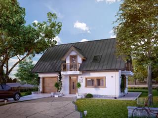 Casas clásicas de Biuro Projektów MTM Styl - domywstylu.pl Clásico