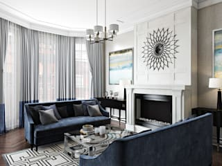 Kensington Court, London Salas de estilo moderno de Hampstead Design Hub Moderno