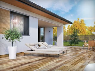 Balcones y terrazas modernos: Ideas, imágenes y decoración de Biuro Projektów MTM Styl - domywstylu.pl Moderno