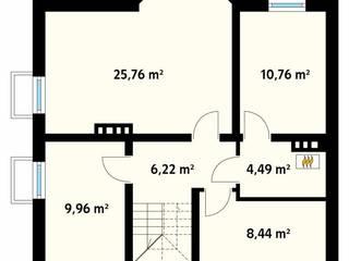 Paredes y pisos clásicos de Biuro Projektów MTM Styl - domywstylu.pl Clásico