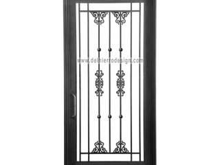 Puerta de entrada Linea Clásica: Ventanas de estilo  por Del Hierro Design