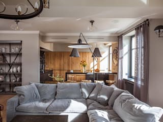 Hampstead Apartment, London Ruang Keluarga Gaya Industrial Oleh Hampstead Design Hub Industrial