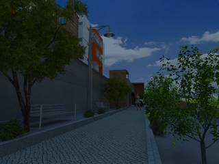 Pasillos y recibidores de estilo  por Project arquitectura s.a.s , Moderno