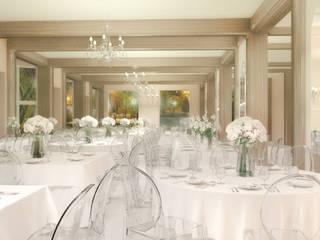 Rendering sala da pranzo: Sala da pranzo in stile  di PAGLIANITI