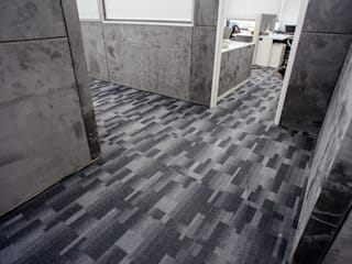 VERONA CARPETES E VINILICOS Modern commercial spaces Grey