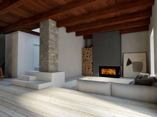 Ristrutturazione villa StudioExNovo Soggiorno in stile rustico