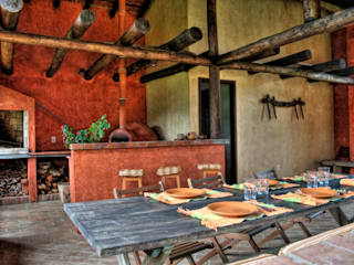 Fazenda Palmares - Ampliação: Terraços  por CABRAL Arquitetos,Campestre