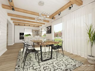 Дизайн интерьера коттеджа в пос.Нагорное: Столовые комнаты в . Автор – Best Home