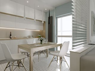 проект Breeze Кухня в скандинавском стиле от M5 studio Скандинавский