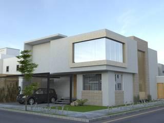 A2 ESTUDIO DE ARQUITECTURA. Modern houses Wood-Plastic Composite Beige