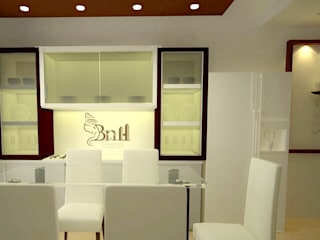 Residential-3BHK-2400sft:  Dining room by BNH DESIGNERS