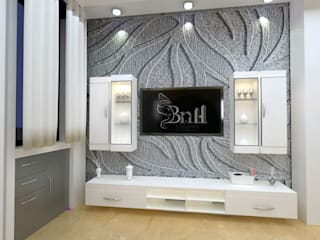Residential-3BHK-2400sft:  Bedroom by BNH DESIGNERS