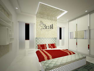 Residential Duplex Villa:  Bedroom by BNH DESIGNERS