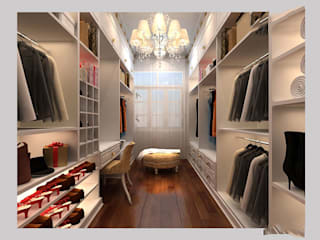 Closets de estilo  por CÔNG TY CP XÂY DỰNG VÀ KIẾN TRÚC ĐẤT VIỆT,