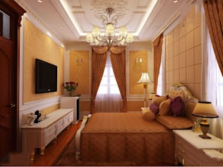Classic style bedroom by CÔNG TY CP XÂY DỰNG VÀ KIẾN TRÚC ĐẤT VIỆT Classic