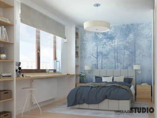 MIKOŁAJSKAstudio Scandinavian style bedroom
