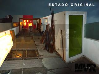 MVR ARQUITECTOS   Remodelación Sky Garden Somático    - Estado Original.: Terrazas de estilo  por MVR ARQUITECTOS  Estudio de Diseño y Arquitectura