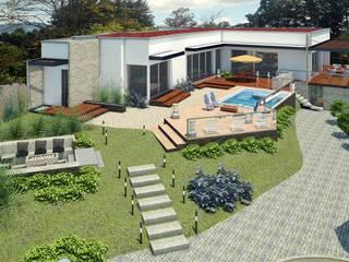 VIVIENDA SPA: Casas de estilo  por G2 ESTUDIO,