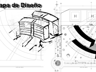 MVR ARQUITECTOS Estudio de Arquitectura y Diseño.   - Proceso de Diseño Proyecto Torre de Consultorios.: Estudios y oficinas de estilo moderno por MVR ARQUITECTOS  Estudio de Diseño y Arquitectura