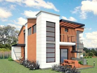 VIVIENDA ARCO IRIS Casas de estilo rústico de G2 ESTUDIO Rústico