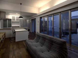 I1-house: Architect Show co.,Ltd Nabaが手掛けたリビングです。,